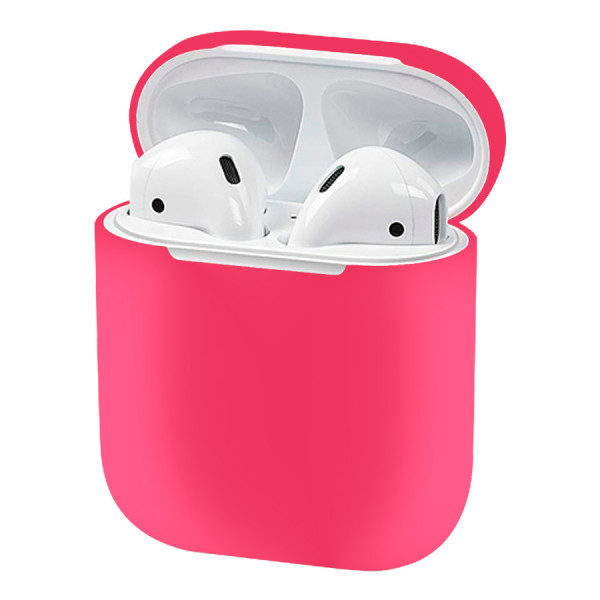 Чехол для AirPods 1 / 2 Silicone Slim Case (Matte Pink)