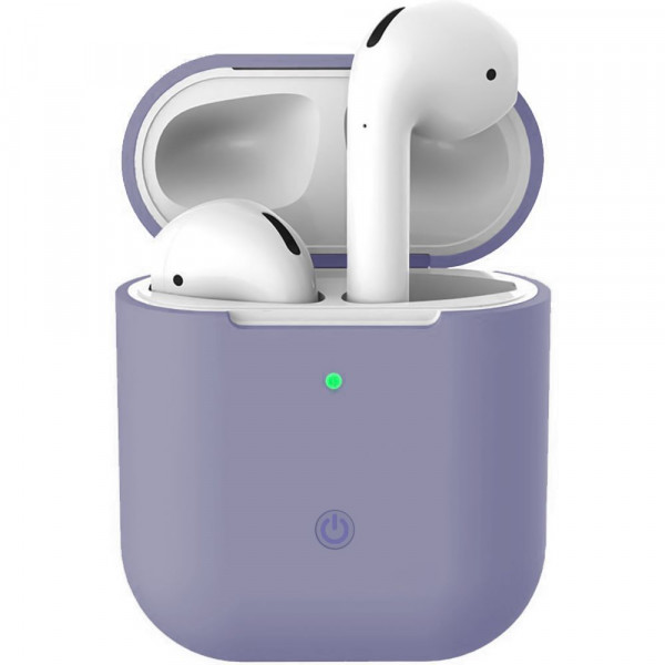Чехол для AirPods 1 / 2 Silicone Slim Case (Lavender Gray)