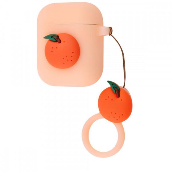 Чехол для AirPods 1/2 Fruits Silicone Case (Orange)
