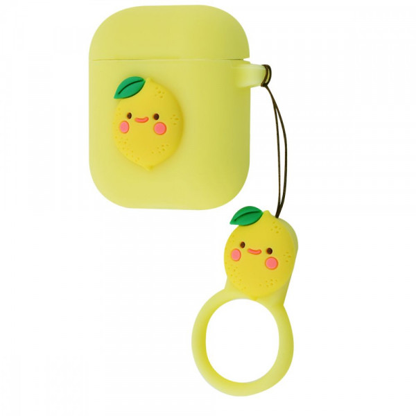 Чехол для AirPods 1/2 Fruits Silicone Case (Lemon)
