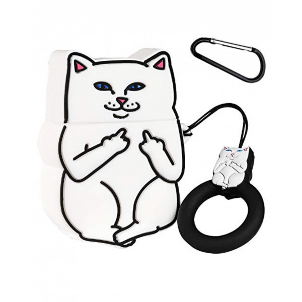 Чехол на AirPods Cat Fakk (White)