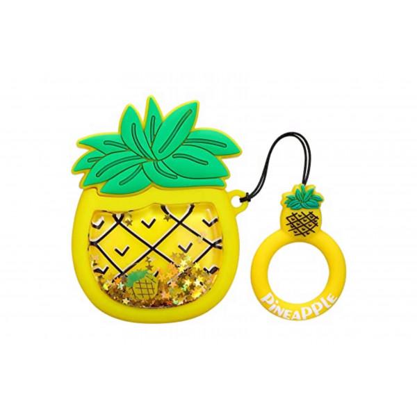 Чехол на AirPods Fruits Sparcles Water (Pineapple)