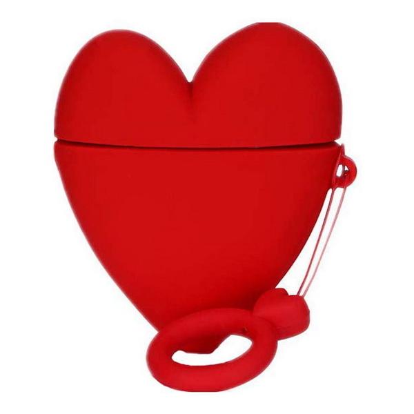 Чехол на AirPods Lucky Heart + кольцо (Red)