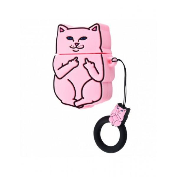 Чехол на AirPods 1/2 Cat Fuck (Pink)