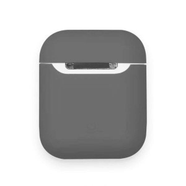 Чехол на AirPods 1/2 Silicone Slim Case (Charcoal Gray)