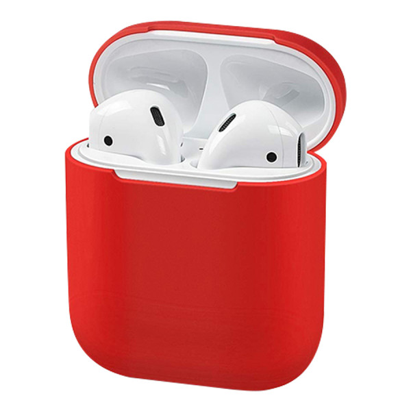 Чехол для AirPods 1 / 2 Silicone Slim Case (Red)