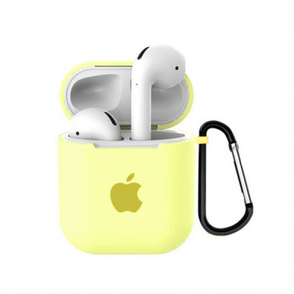 Чехол для AirPods 1 / 2 Silicone Case with Apple (Flash)