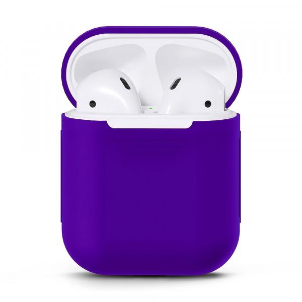 Чехол для Airpods Silicone Case (Violet)