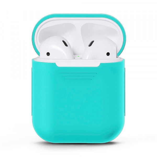 Чехол для Airpods Silicone Case (Sea Blue)