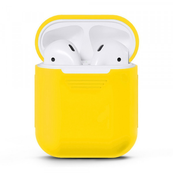 Чехол для Airpods Silicone Case (Yellow)