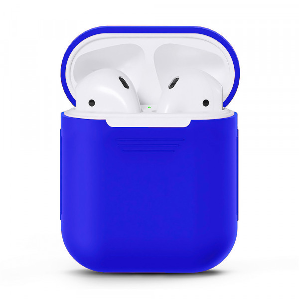 Чехол для Airpods Silicone Case (Royal Blue)