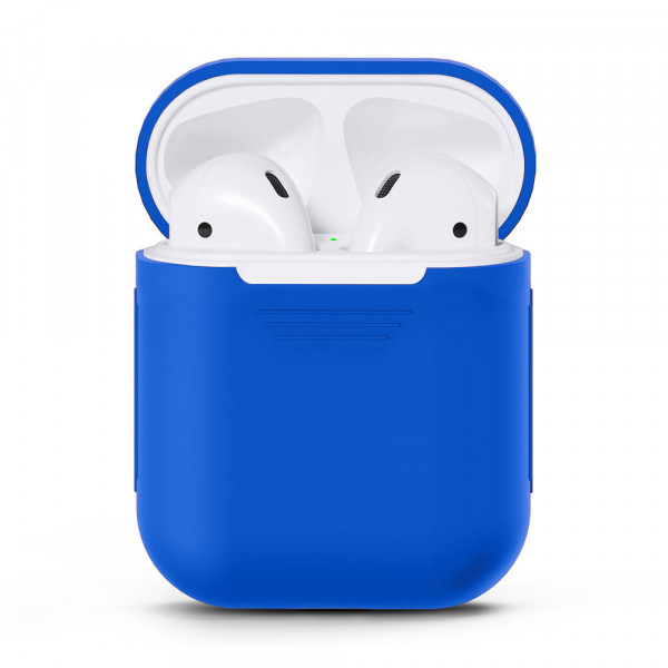 Чехол для Airpods Silicone Case (Mignight Blue)
