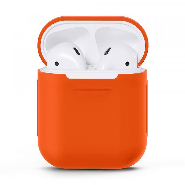 Чехол для Airpods Silicone Case (Orange)