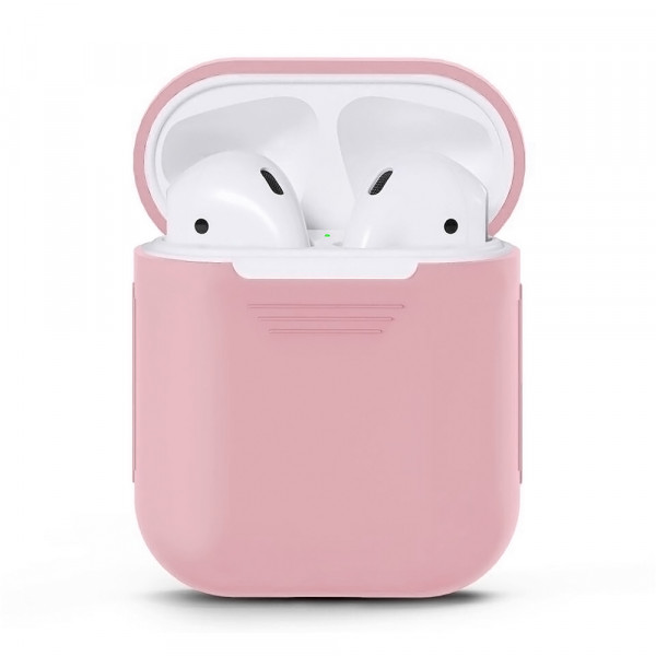 Чехол для Airpods Silicone Case (Light Pink)
