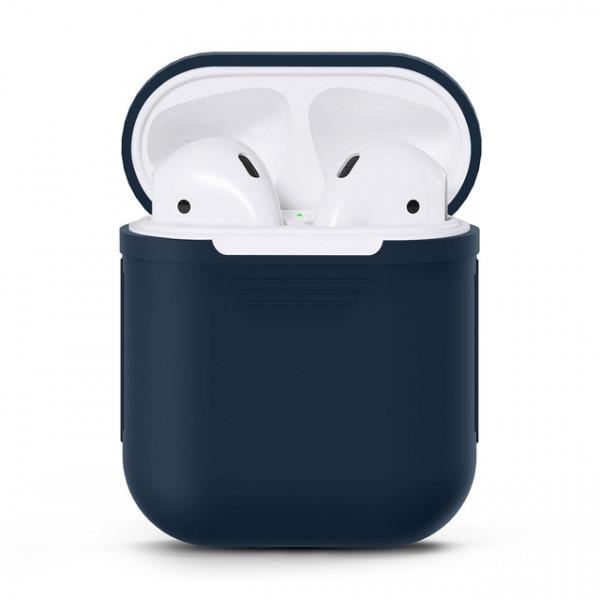 Чехол для Airpods Silicone Case (Blue)