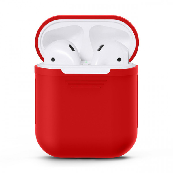 Чехол для Airpods Silicone Case (Red)