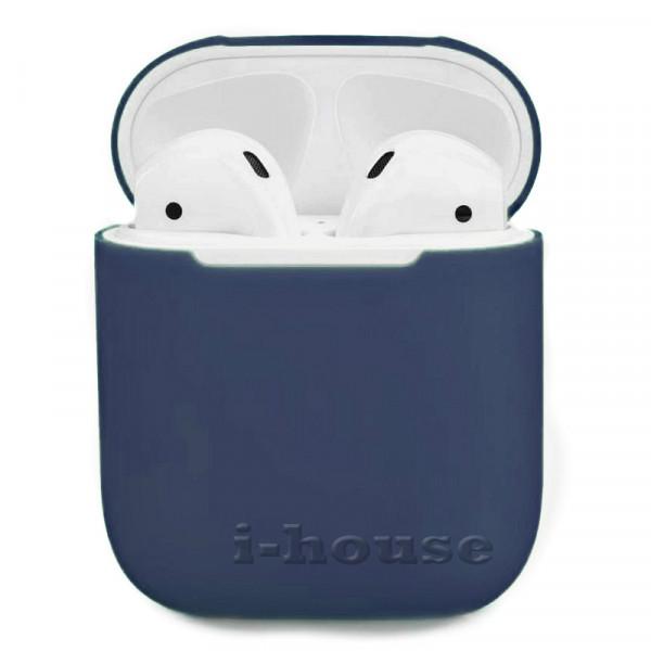 Чехол для AirPods 1 / 2 Silicone Slim Case (Midnight Blue)