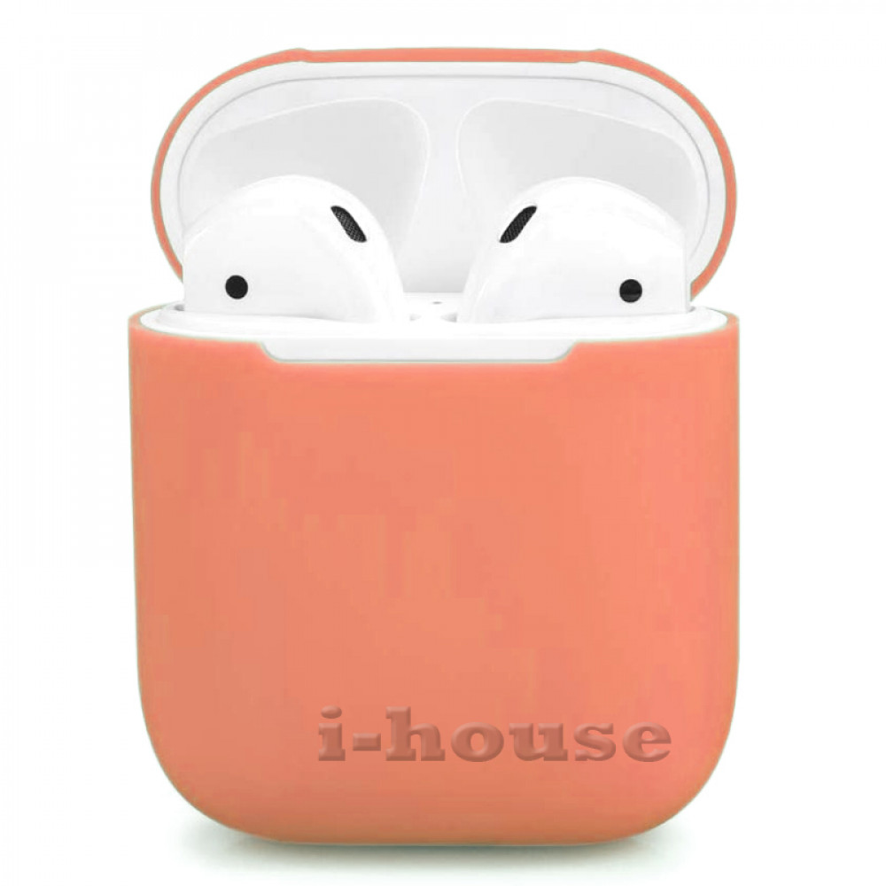 Чехол для AirPods 1 / 2 Silicone Slim Case (Peach)