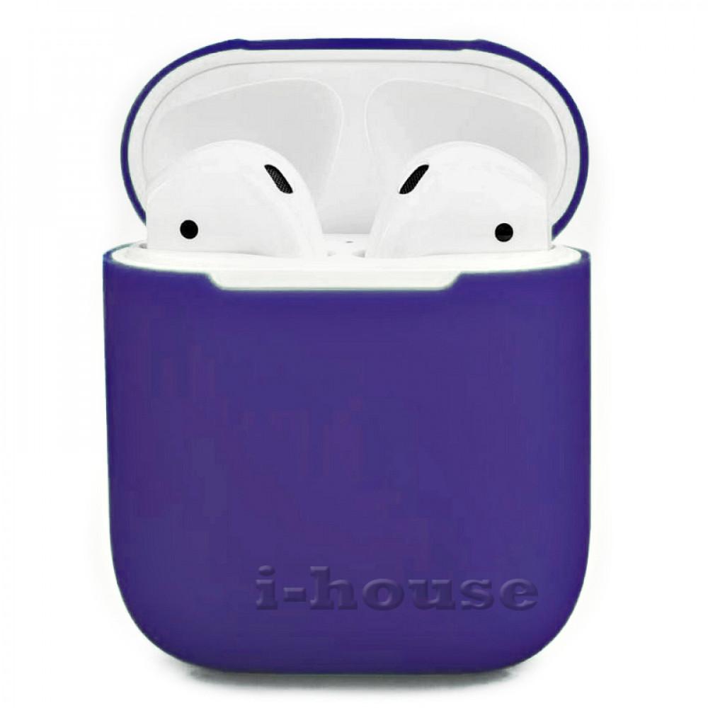 Чехол для AirPods 1 / 2 Silicone Slim Case (Violet)