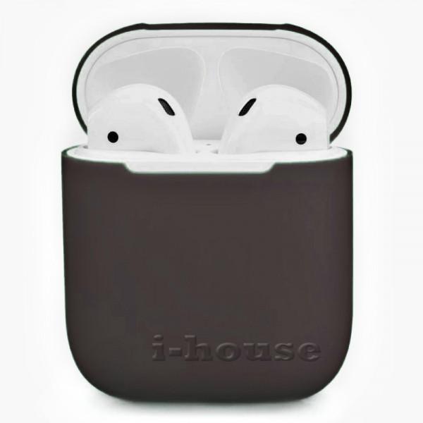 Чехол для AirPods 1 / 2 Silicone Slim Case (Cocoa)