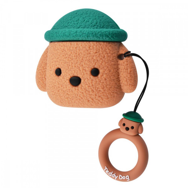 Чехол для AirPods 1/2 Teddy Dog (Brown)