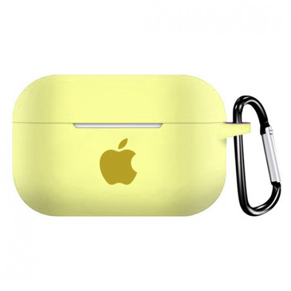 Чехол для AirPods PRO Silicone Case with Apple (Mellow Yellow)