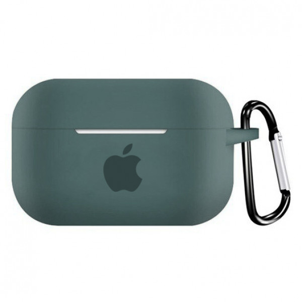 Чехол для AirPods PRO Silicone Case with Apple (Pine Green)