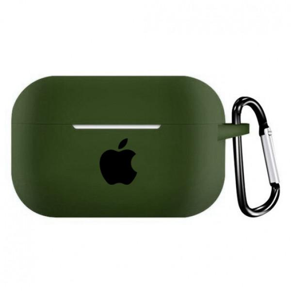 Чехол для AirPods PRO Silicone Case with Apple (Virid)