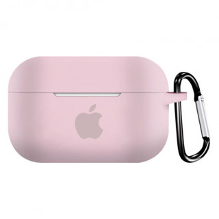 Чехол для AirPods PRO Silicone Case with Apple (Pink Sand)