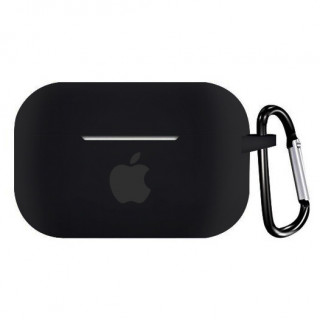 Чехол для AirPods PRO Silicone Case with Apple (Black)