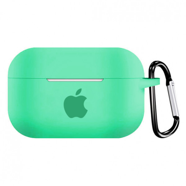 Чехол для AirPods PRO Silicone Case with Apple (Spearmint)