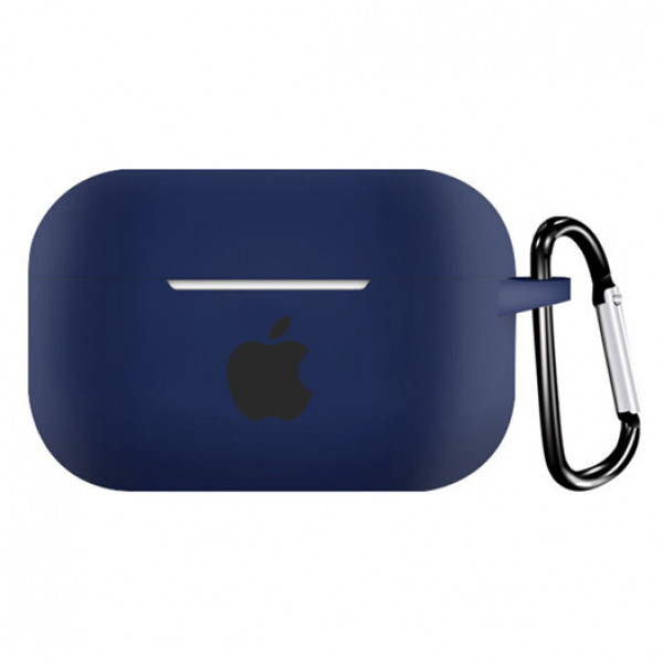 Чехол для AirPods PRO Silicone Case with Apple (Cobalt)