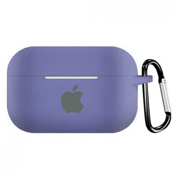 Чехол для AirPods PRO Silicone Case with Apple (Lavender Gray)