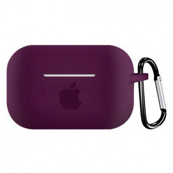 Чехол для AirPods PRO Silicone Case with Apple (Marsala)
