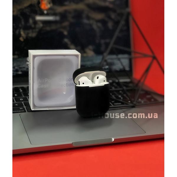 Чехол для AirPods 1 / 2 Silicone Slim Case (Black)