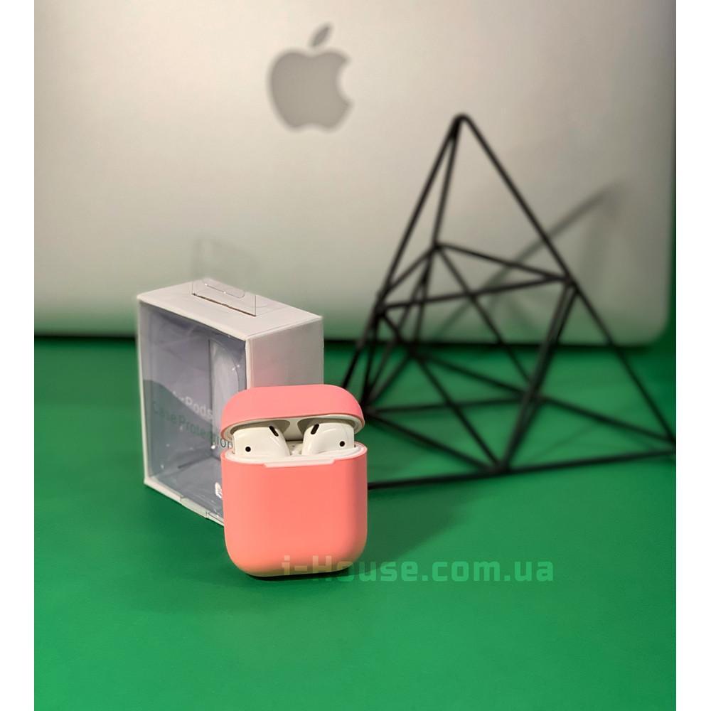 Чехол для AirPods 1 / 2 Silicone Slim Case (Light Pink)
