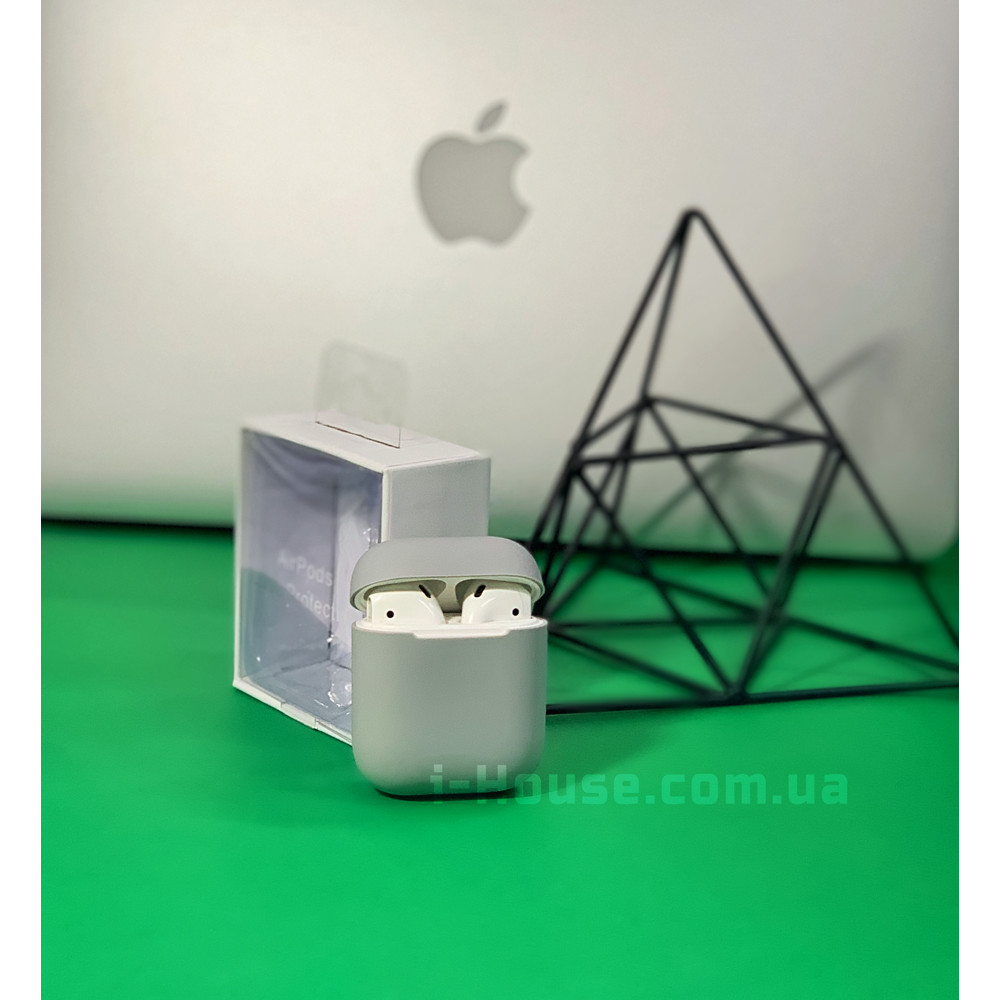 Чехол для AirPods 1 / 2 Silicone Slim Case (Pebble)
