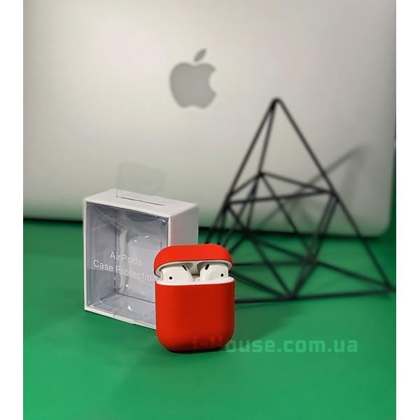 Чехол для AirPods 1 / 2 Silicone Slim Case (Red)