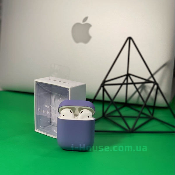 Чехол для AirPods 1 / 2 Silicone Slim Case (Lavender Gray)