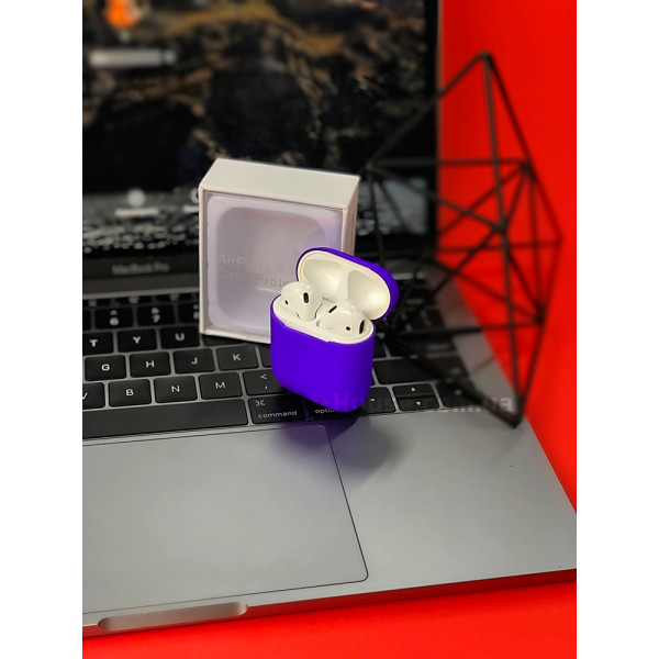 Чехол для AirPods 1 / 2 Silicone Slim Case (Ultra Violet)