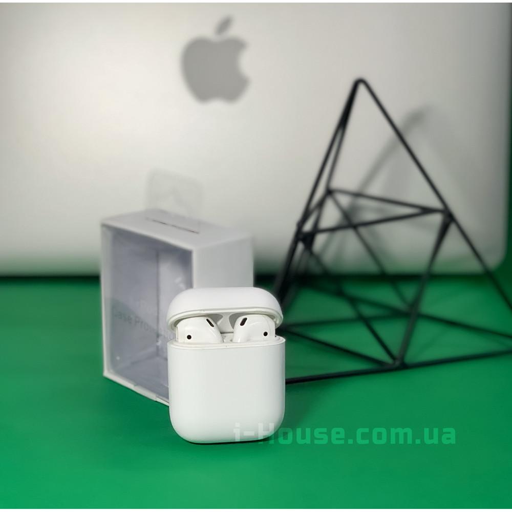Чехол для AirPods 1 / 2 Silicone Slim Case (White)