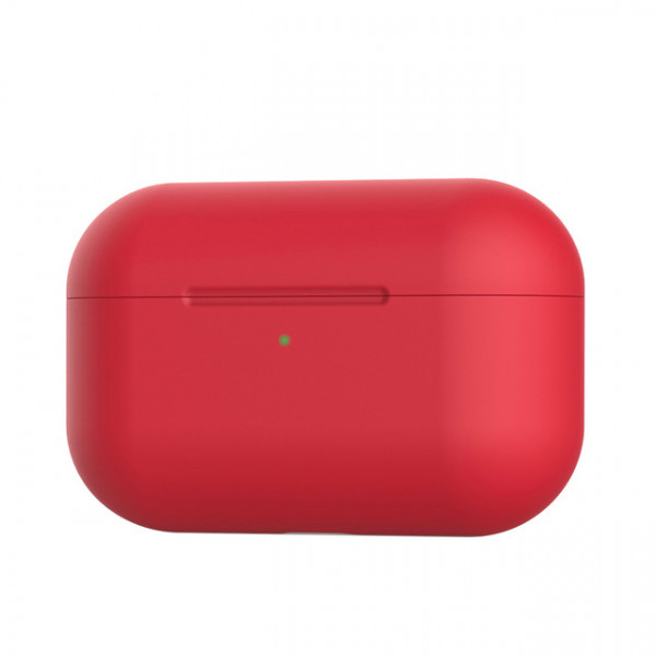 Чехол для AirPods Pro Silicone Slim Case (Red)