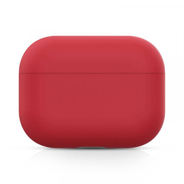 Чехол для AirPods Pro Silicone Slim Case (Wine Red)