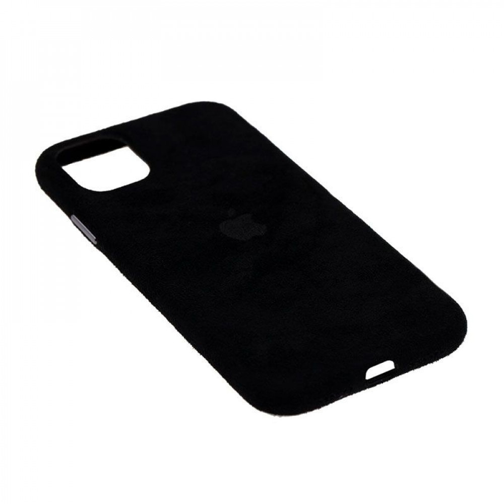 Замшевый чехол для iPhone 11 Alcantara (Black)