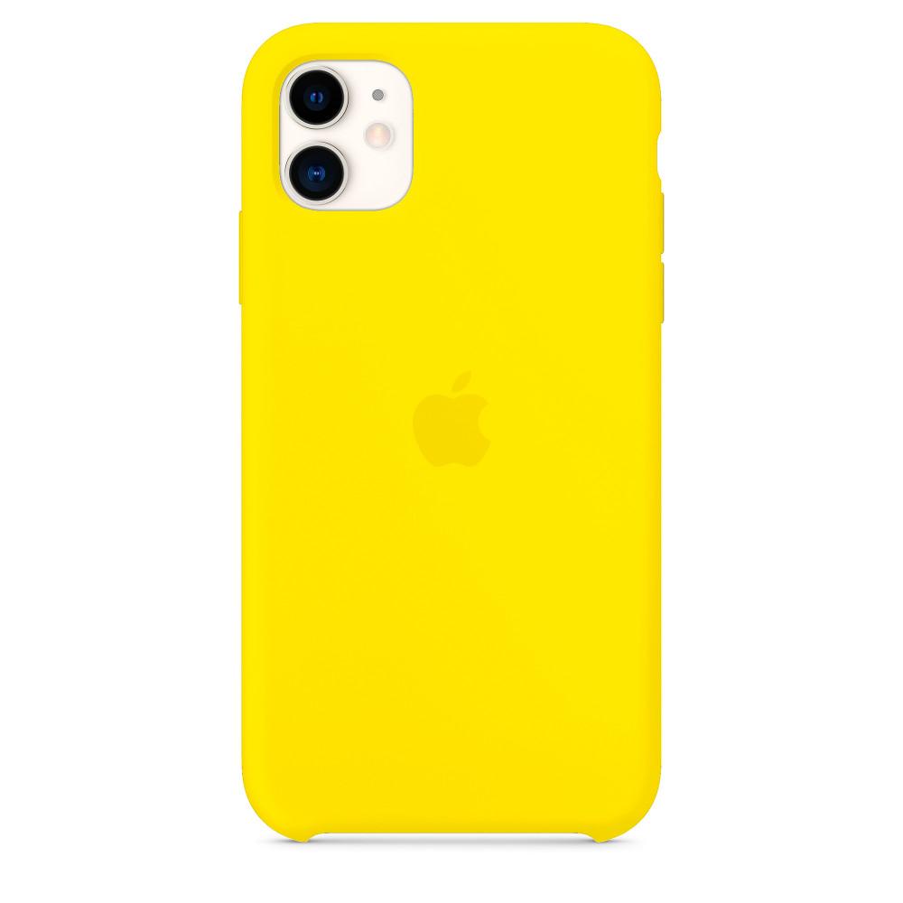 Чехол для iPhone 11 Silicone Case (Canary Yellow) OEM