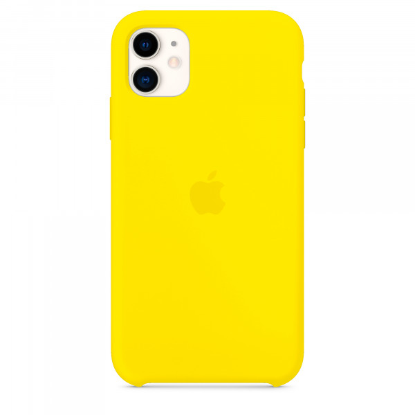 Чехол для iPhone 11 Silicone Case (Canary Yellow) OEM