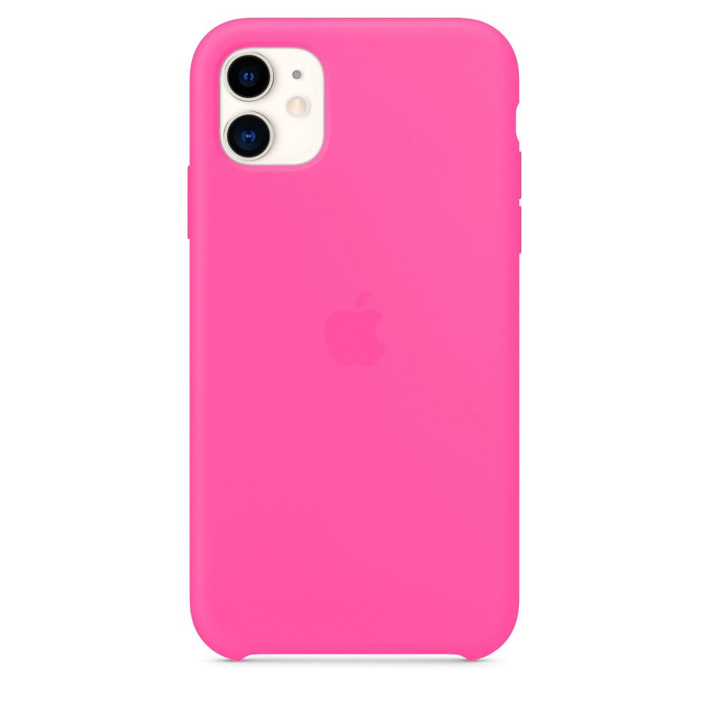 Чехол для iPhone 11 Silicone Case (Electric Pink) OEM