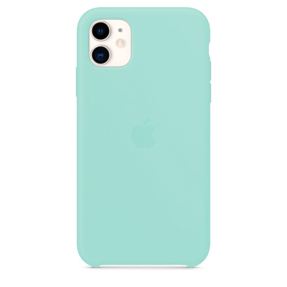 Чехол для iPhone 11 Silicone Case (Marine Green) OEM