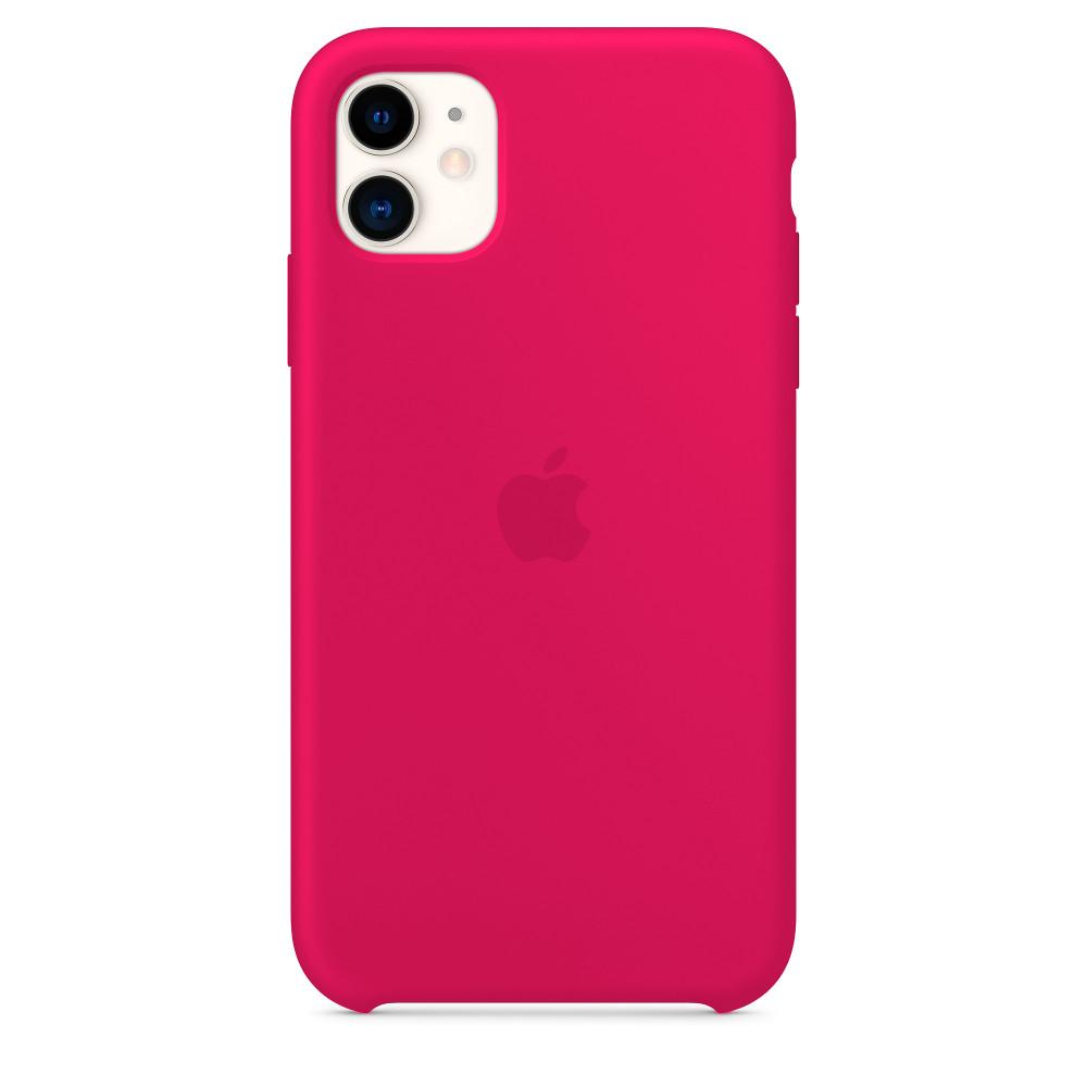 Чехол для iPhone 11 Silicone Case (Rose Red) OEM