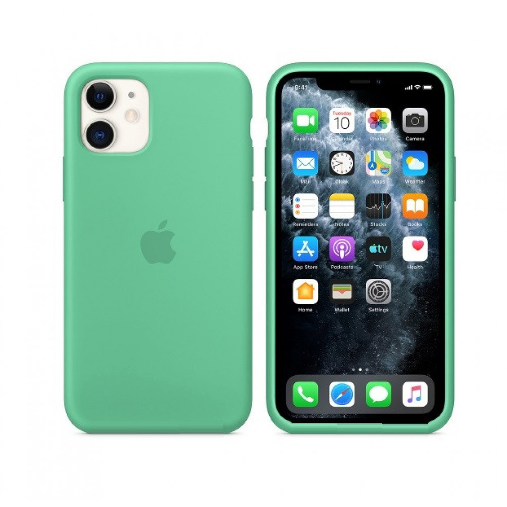 Чехол для iPhone 11 Silicone Case (Spearmint) OEM